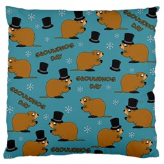 Groundhog Day Pattern Standard Flano Cushion Case (one Side)