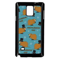 Groundhog Day Pattern Samsung Galaxy Note 4 Case (black)