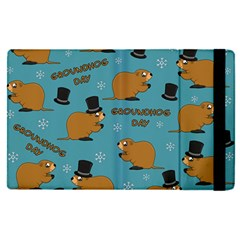 Groundhog Day Pattern Apple Ipad Pro 12 9   Flip Case