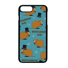 Groundhog Day Pattern Apple Iphone 7 Plus Seamless Case (black)