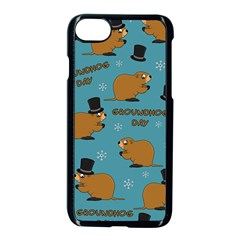 Groundhog Day Pattern Apple Iphone 7 Seamless Case (black)