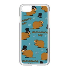 Groundhog Day Pattern Apple Iphone 7 Seamless Case (white)