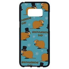 Groundhog Day Pattern Samsung Galaxy S8 Black Seamless Case