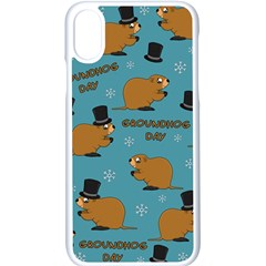 Groundhog Day Pattern Apple Iphone X Seamless Case (white)