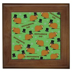 Groundhog Day Pattern Framed Tiles