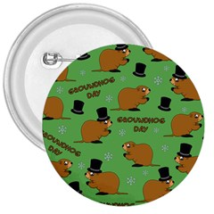 Groundhog Day Pattern 3  Buttons