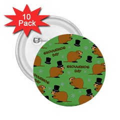 Groundhog Day Pattern 2 25  Buttons (10 Pack)