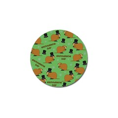 Groundhog Day Pattern Golf Ball Marker (4 Pack)