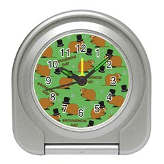 Groundhog Day Pattern Travel Alarm Clock