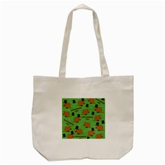 Groundhog Day Pattern Tote Bag (cream)