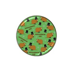 Groundhog Day Pattern Hat Clip Ball Marker (10 Pack)
