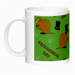 Groundhog Day Pattern Night Luminous Mugs