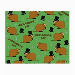 Groundhog Day Pattern Small Glasses Cloth