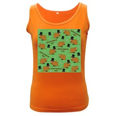 Groundhog Day Pattern Women s Dark Tank Top