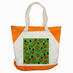 Groundhog Day Pattern Accent Tote Bag