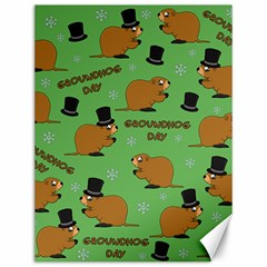 Groundhog Day Pattern Canvas 12  X 16