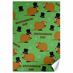 Groundhog Day Pattern Canvas 24  X 36
