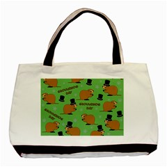 Groundhog Day Pattern Basic Tote Bag (two Sides)