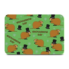 Groundhog Day Pattern Plate Mats