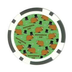 Groundhog Day Pattern Poker Chip Card Guard