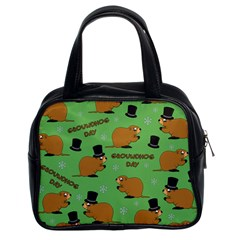 Groundhog Day Pattern Classic Handbag (two Sides)
