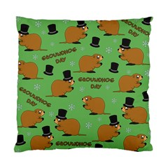 Groundhog Day Pattern Standard Cushion Case (two Sides)