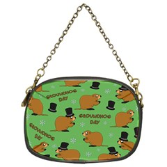 Groundhog Day Pattern Chain Purse (two Sides)