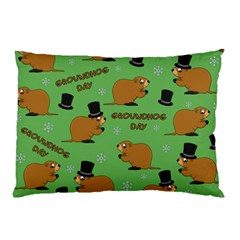 Groundhog Day Pattern Pillow Case