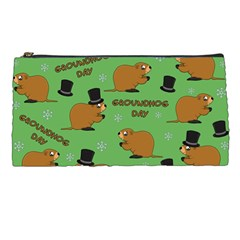 Groundhog Day Pattern Pencil Cases