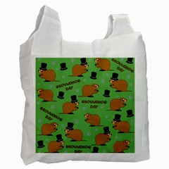 Groundhog Day Pattern Recycle Bag (one Side)