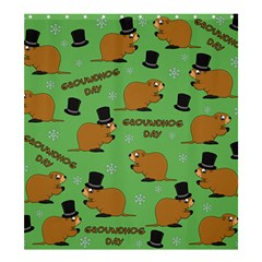 Groundhog Day Pattern Shower Curtain 66  X 72  (large)
