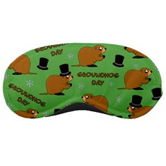 Groundhog Day Pattern Sleeping Masks