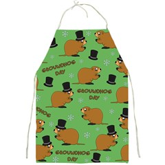Groundhog Day Pattern Full Print Aprons