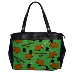 Groundhog Day Pattern Oversize Office Handbag