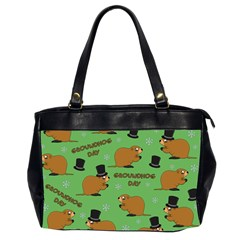Groundhog Day Pattern Oversize Office Handbag (2 Sides)