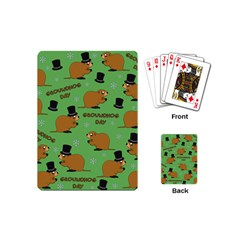 Groundhog Day Pattern Playing Cards (mini)