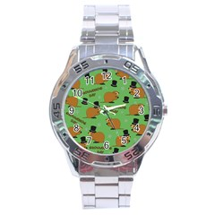 Groundhog Day Pattern Stainless Steel Analogue Watch