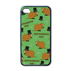 Groundhog Day Pattern Apple Iphone 4 Case (black)