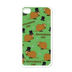Groundhog Day Pattern Apple Iphone 4 Case (white)