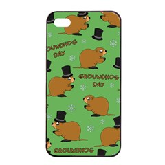 Groundhog Day Pattern Apple Iphone 4/4s Seamless Case (black)