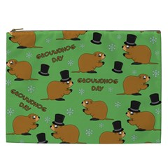 Groundhog Day Pattern Cosmetic Bag (xxl)