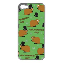 Groundhog Day Pattern Apple Iphone 5 Case (silver)