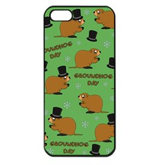Groundhog Day Pattern Apple Iphone 5 Seamless Case (black)