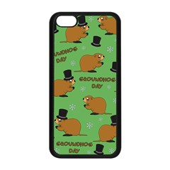 Groundhog Day Pattern Apple Iphone 5c Seamless Case (black)