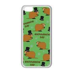 Groundhog Day Pattern Apple Iphone 5c Seamless Case (white)