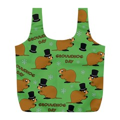 Groundhog Day Pattern Full Print Recycle Bag (l)