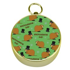 Groundhog Day Pattern Gold Compasses