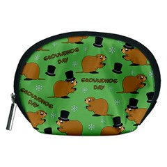 Groundhog Day Pattern Accessory Pouch (medium)