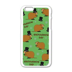 Groundhog Day Pattern Apple Iphone 6/6s White Enamel Case