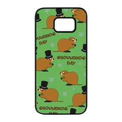 Groundhog Day Pattern Samsung Galaxy S7 Edge Black Seamless Case